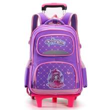 Removable Children School Bags with 2/3 Wheels for Boys Girls Trolley Backpack Kids Wheeled Bag Backpack travel luggage Mochila(China)