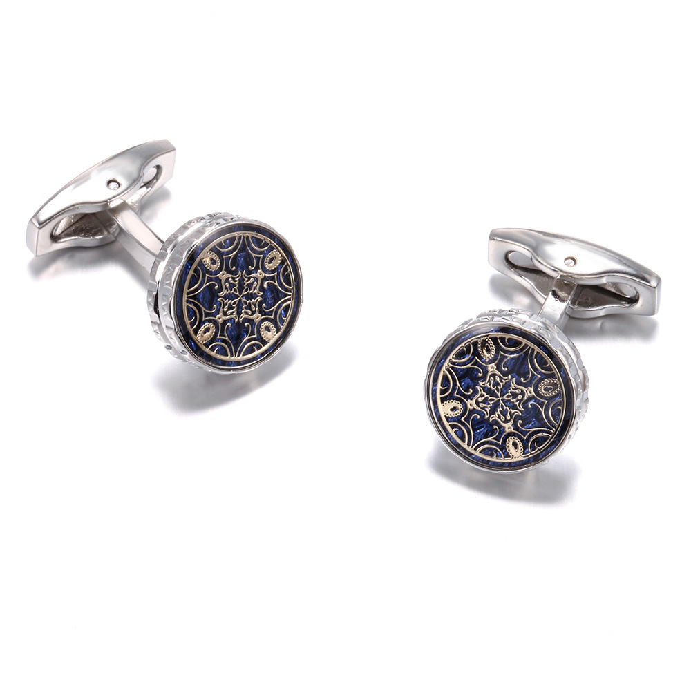 New French Shirts Cufflinks Retro Pattern Fashion Men's High-quality Cuff Buttons Male Jewelry Gifts