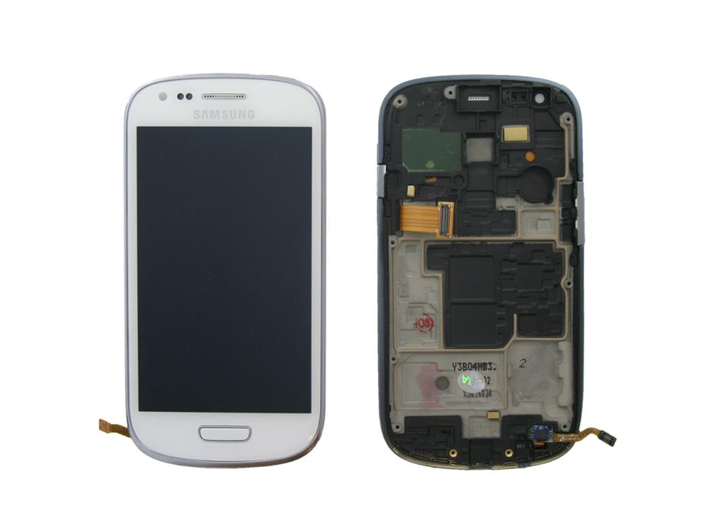 4.0'' i8190 For Samsung Galaxy S3 Mini i8190 GT-i8190 i8195 i8200 LCD Dispaly Touch Panel with Frame image