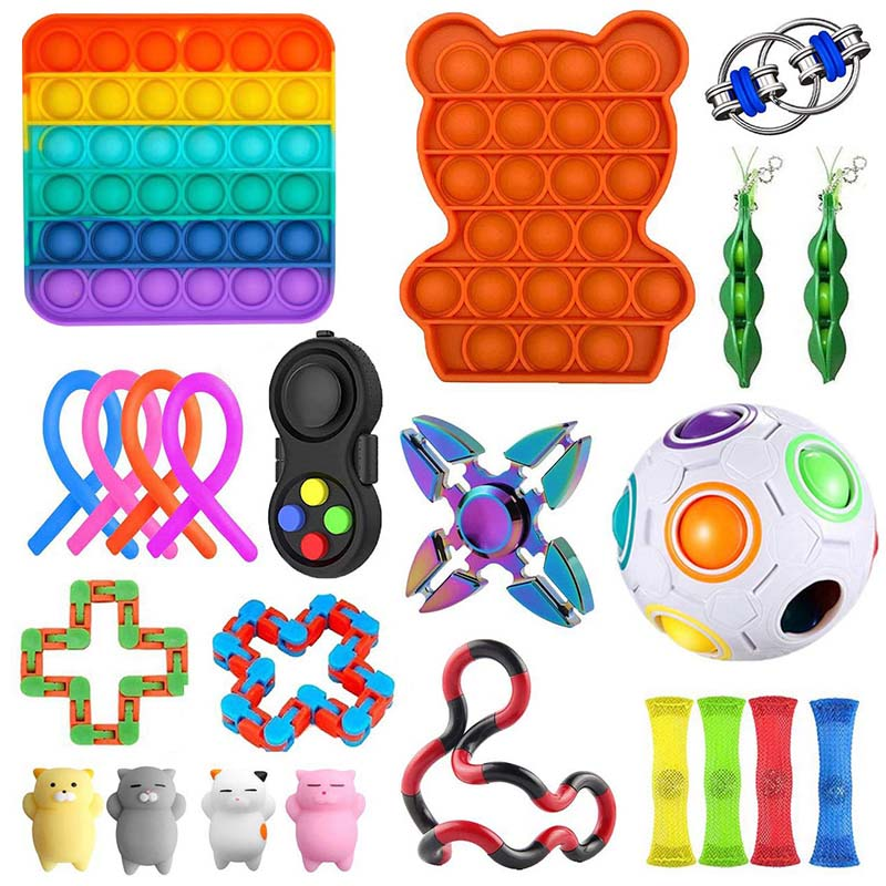 Toy-Set Fidget-Toys Strings Relief-Antistress-Toys Marble Sensory Stress Girl Adults