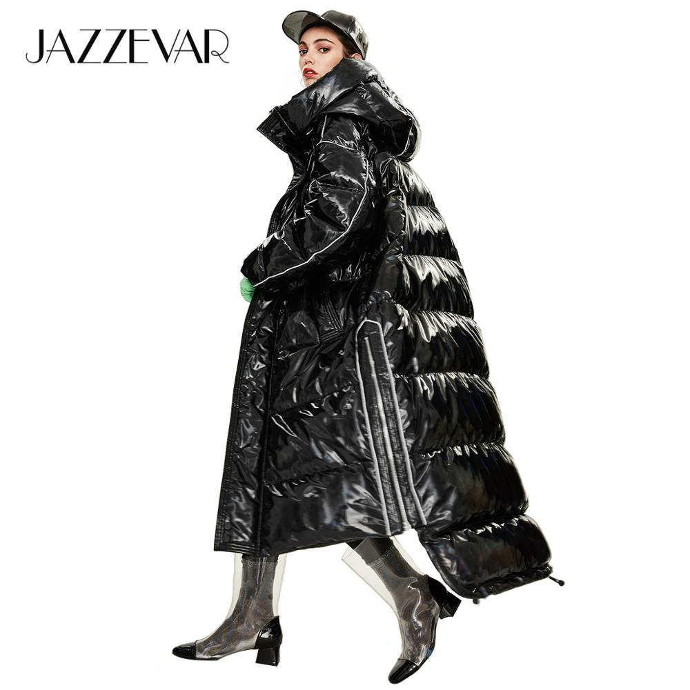 JAZZEVAR 2019 Winter new arrival women down jacket outerwear quality loose clothing fashion style long winter coat women Y9047(China)