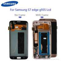 Original For Samsung Galaxy S7 edge G935F G935A G935FD Burn-in shadow and Defect lcd display with touch screen Digitizer