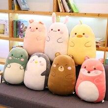 Hot 60CM/80CM Cartoon Animal Dinosaur Rabbit Pig Bear Duck Plush Toys Stuffed Soft Sleeping Pillow Dolls Children Birthday Gifts