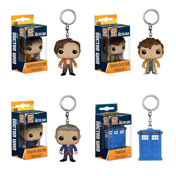 FUNKO POP DOCTOR WHO Pocket Keychain vinyl Action Figures TENTH ELEVENTH TWELFTH TARDIS DOCTOR Toys For Children Christmas Gift