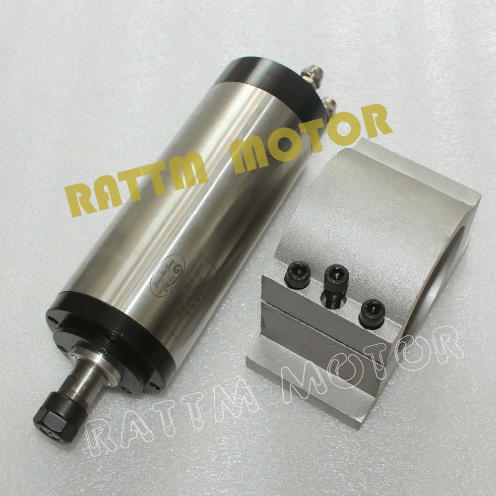 1.5KW ER16 moteur de broche refroidi à l'eau 220V 8A 24000 tr/min et 80mm Kit de CNC de serrage en Aluminium pour CNC