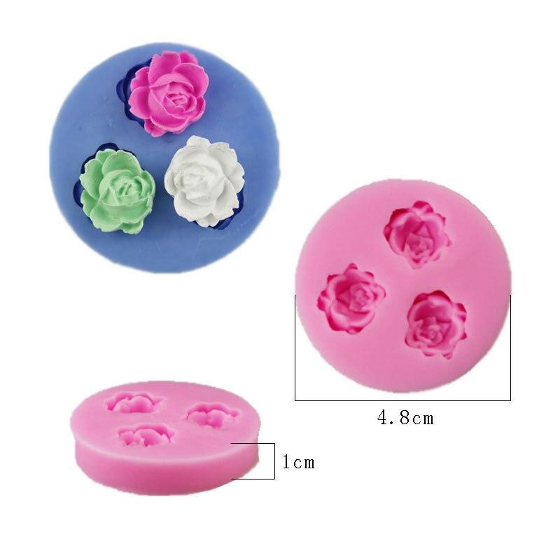 3D Rose Flower Silicone Fondant Mold Cake Decor Chocolate Sugar Craft Baking Mold