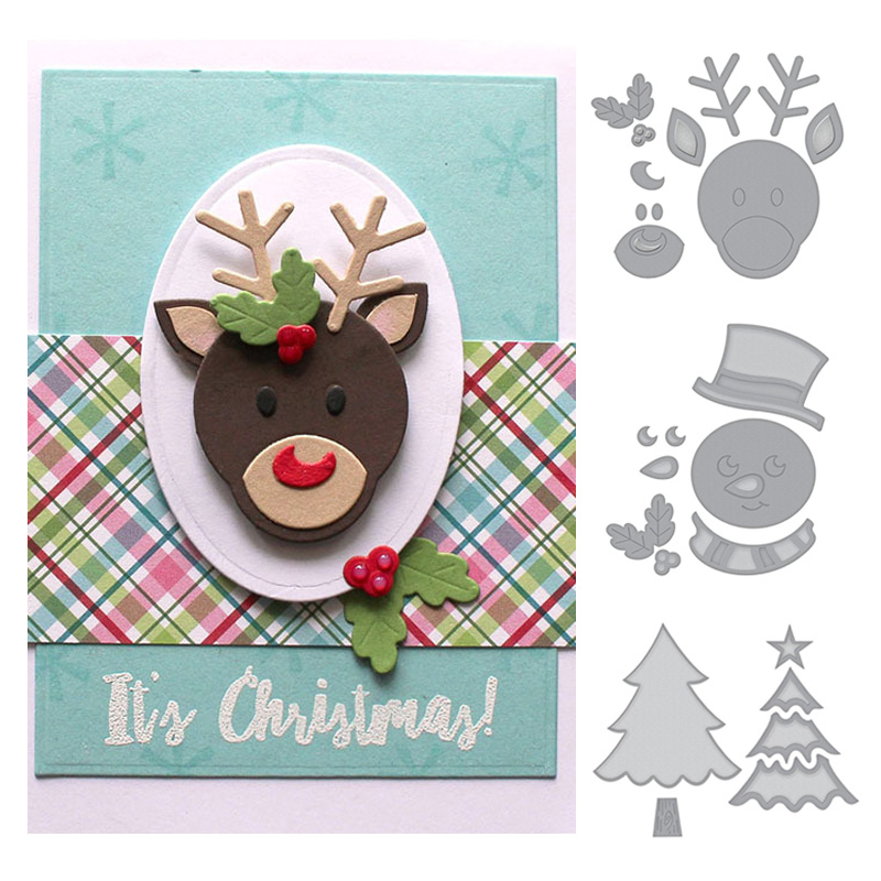 Christmas Tags Carbon Steel Cutting Dies DIY Handcraft Xmas Paper Card Making