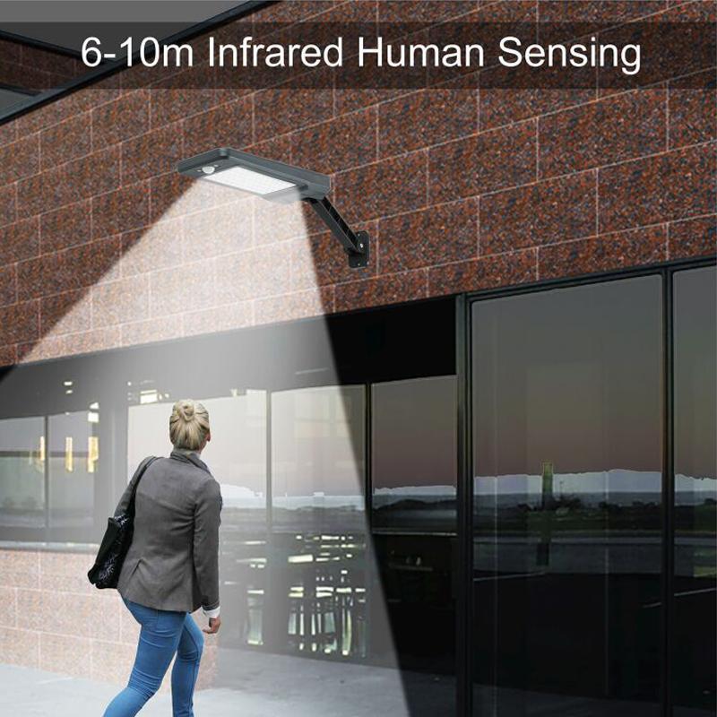 lâmpada ao ar livre de controle remoto luz rua solar jardim luz