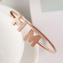 Anke store новые модные женские браслеты титановая сталь буквы