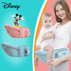Disney Baby Carrier Ergonomic Waist Stool Walkers Baby Sling Hold Facing Kangaroo Baby Wrap Carrier for Baby Travel 0-24 Months