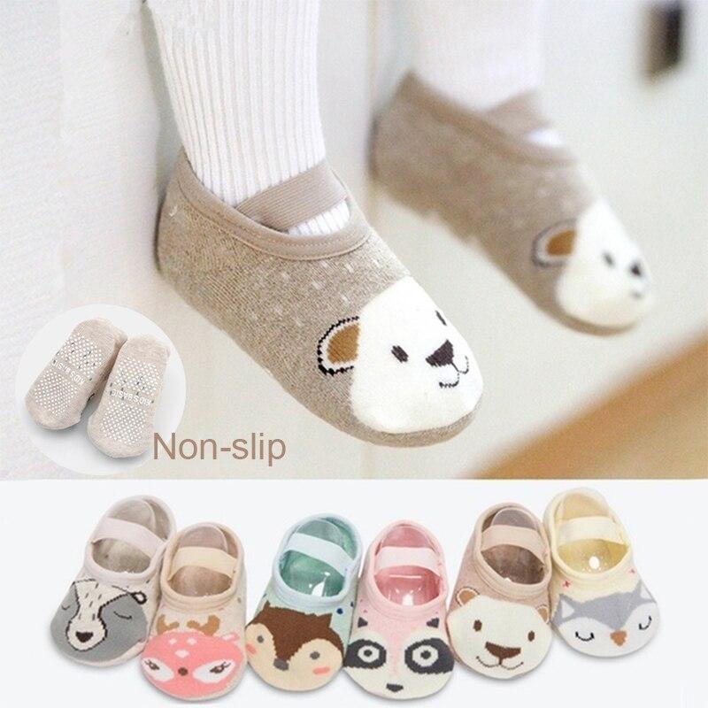 Non-Slip Socks Warm Children Girls Slipper Fluffy Bed Short Thick Soft 1-12y