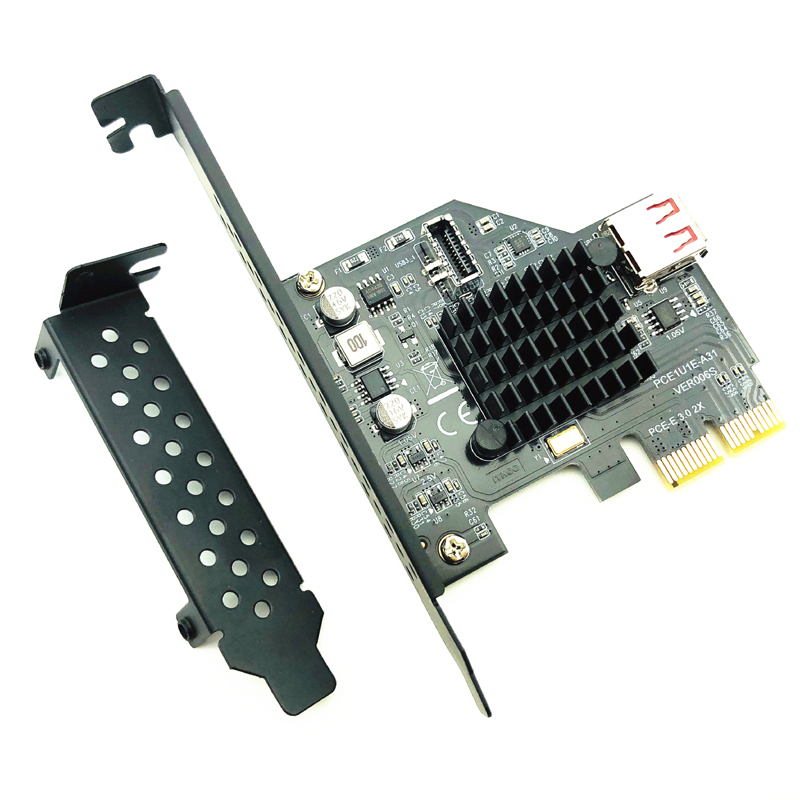 H1111Z Add On Cartões PCI Express 3.0 portas USB 3.1 PCI-E PLACA Pcie Adaptador USB Raiser TYPE-E USB3.1 Gen2 10 5gbps + Placa de Expansão USB2.0