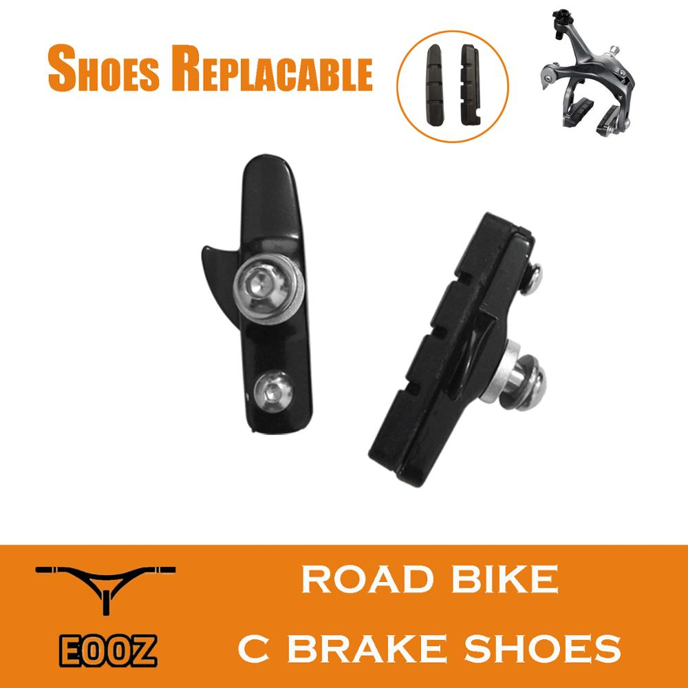 Road Bike C-Brake Caliper Pads Bicycle Brake Shoes Rubber Blocks Light-Weight Replaceable for Shimano * 1pr EOOZ(China)
