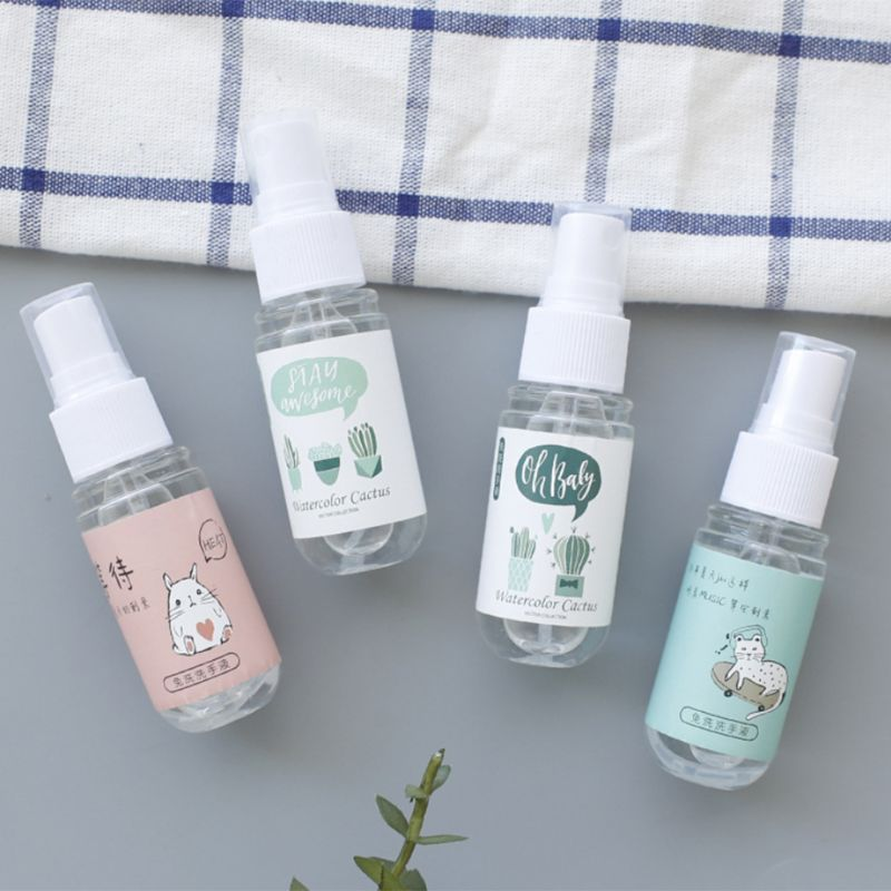 30ml Cartoon Portable Disnfectant Spray Hand Sanitizer Soap Liquid Rinse-Free