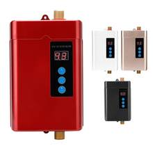 Water Heater Electric Shower Water Heater Instantaneous Home Kitchen Bathroom Tankless Flow Water Fast Heating 220V 110V