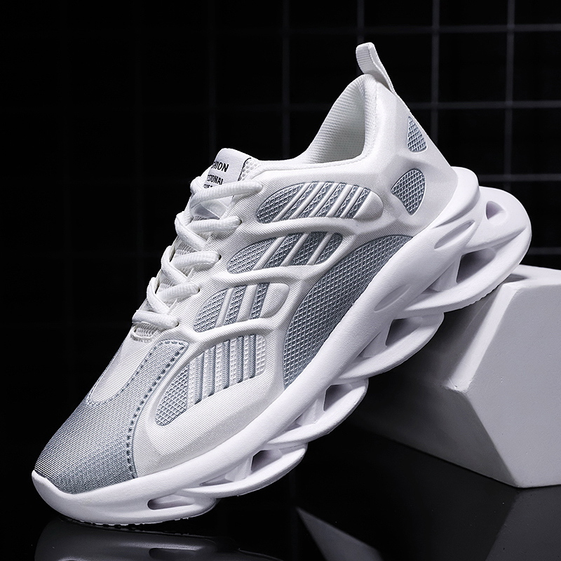 Men lightweight blade running shoes shockproof breathable male sneakers height increase walking Gym shoes outdoor Jogging shoe