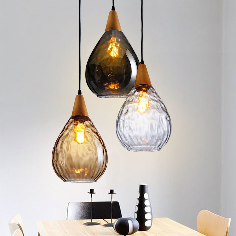 Nordic Modern Single Head Glass Pendant Light Dining Room Bar Restaurant Hanging Lighting Ing Hanging Lamp