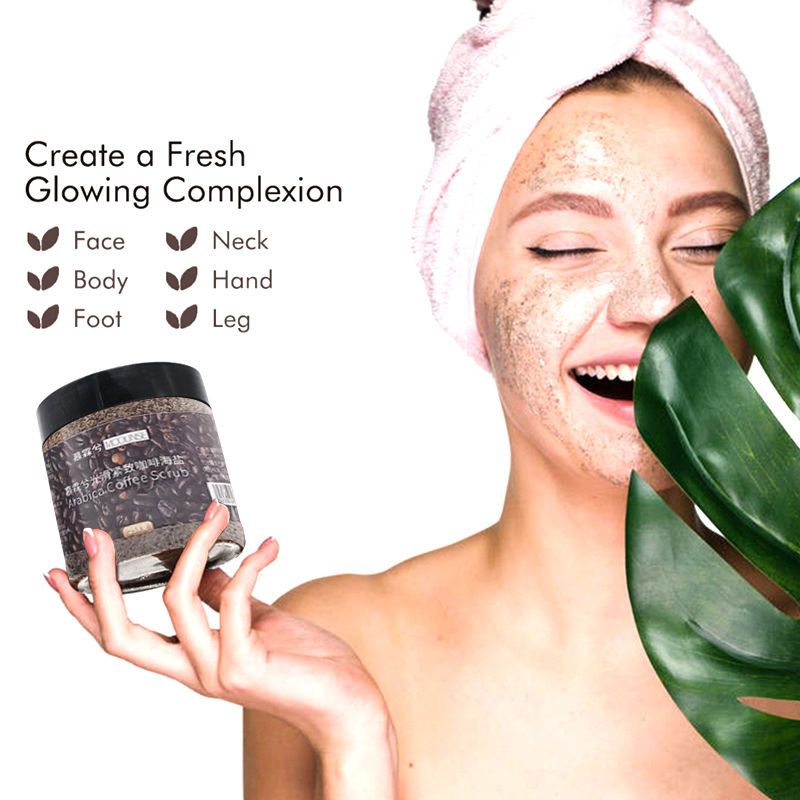 Coffee Scrub Sea Salt Exfoliating Whitening Massage Cream Anti Cellulite Body Scrub Treatment