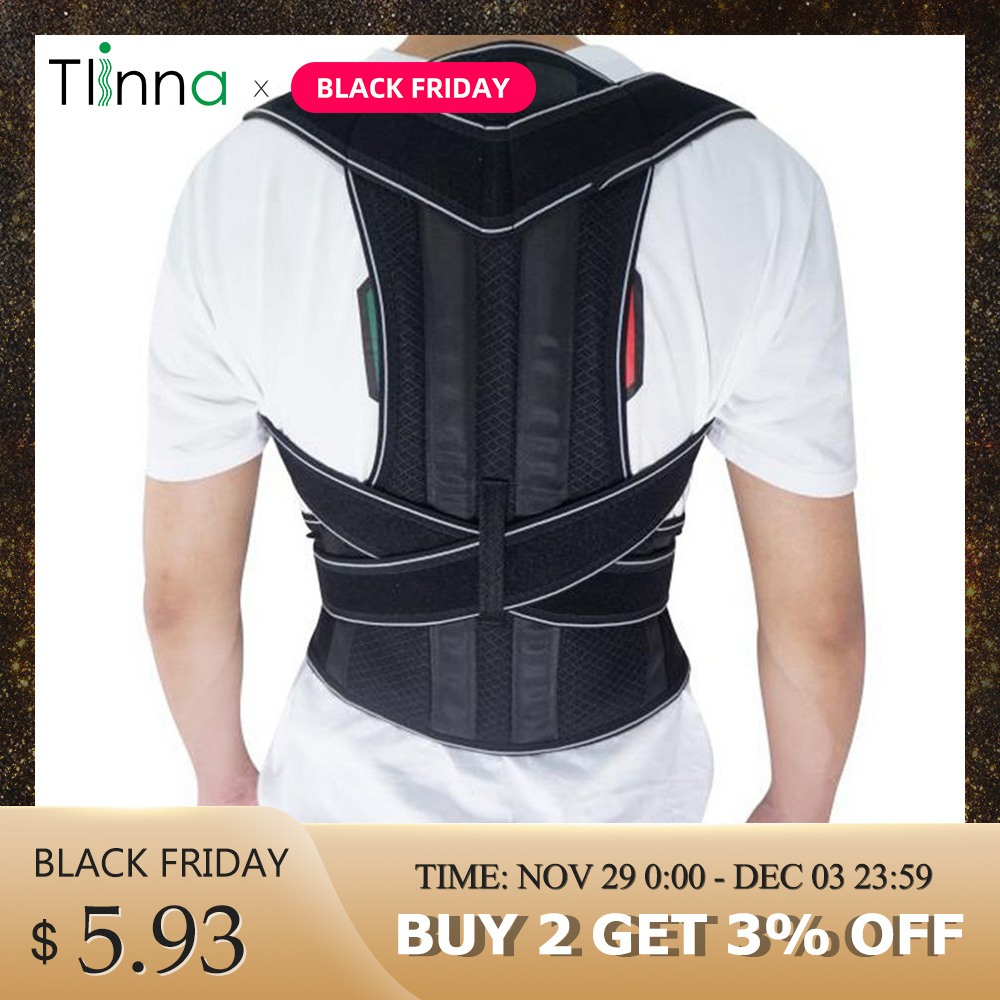 Men Women Brace Back Belt Lumbar Support Adjustable Bodywellness Posture Corrector Shoulder Orthopedic Spine Belt