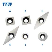 TASP płytka węglikowa narzędzia do obróbki drewna frezy do wymiany Torx M4 wkręty do otworów Finishers tokarka do drewna uchwyt tokarski tanie tanio None MWTB HRC 90 Narzędzia tokarskie zewnętrzne Węglika wolframu