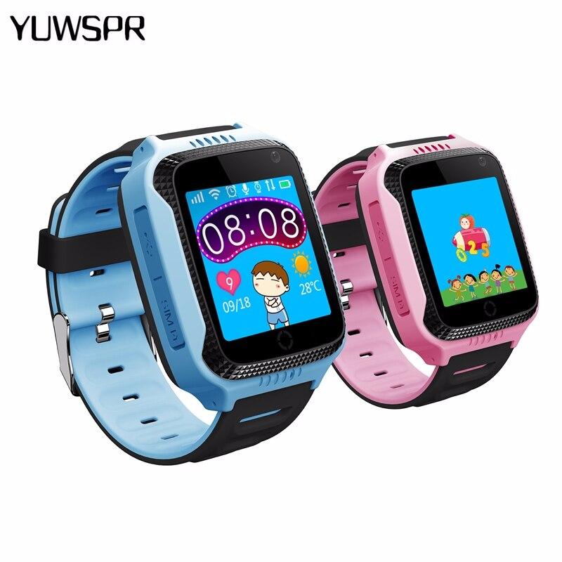 Kids Tracker Watch Q528 Y21 Flashlight Child Camera Touch Screen SOS Call GPS Location Baby Wristwatches Clock Q529