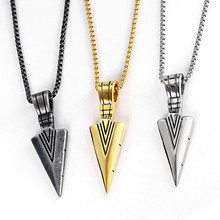 Personalized Necklace Mens Chain Accessories Arrow Spear Stainless Steel Jewelry On The Neck Head Male