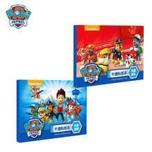 цена на Paw patrol cartoon book stickers Early education children's puzzle DIY sticker hand-painted baby toys birthday gifts 31S