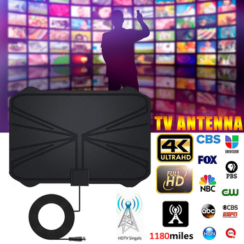 4K Digital HDTV Aerial Indoor Amplified Antenna 1180 Miles Range HD1080P DVB-T2 Freeview TV image