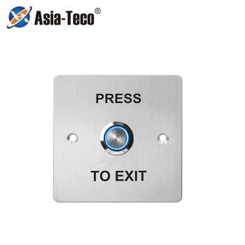Przycisk wyjścia podświetlenia LED ze stali nierdzewnej kontrola dostępu do drzwi zestaw do organizacji NC NO COM do systemu kontroli dostępu do zamka drzwi tanie i dobre opinie LUCKING DOOR CN (pochodzenie) 86*86*40mm S886L