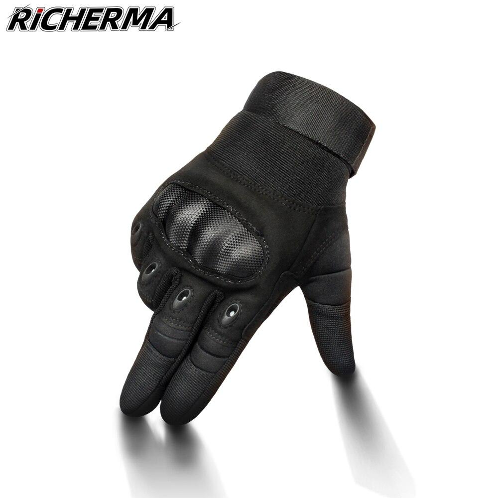 Noir Moto gants homme complet doigt Joints gants de protection pour les mains Moto Motocross course vélo électrique Moto accessoires
