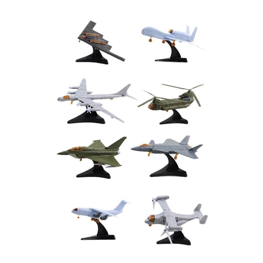 1pcs Mini Aircraft Model Building Assembling TU-95 CH-47 EF-2000 V-22 J-20 RQ-4A Y-20 B-2 Famous Airplane Model Collection