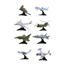 1pcs Mini Aircraft Model Building Assembling TU-95 CH-47 EF-2000 V-22 J-20 RQ-4A Y-20 B-2 Famous Airplane Collection