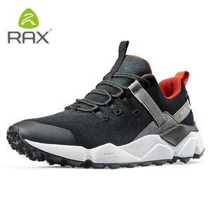 Image 5 - RAX חדש גברים של נעלי הליכה עור עמיד למים לנשימה ריפוד נעלי נשים חיצוני טרקים תרמילאים נסיעות נעלי גברים