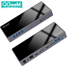 QGeeM Docking Station 15-IN-1 USB Hub 3.0 for Macbook Pro Xiaomi Laptops One 5K/ Dual