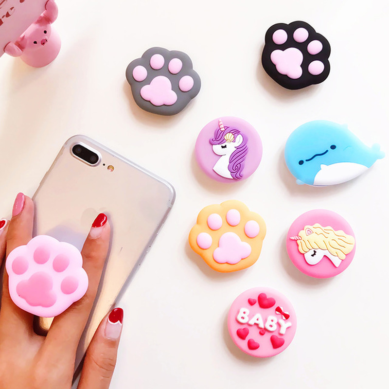 Suitable For All Mobile Phone Stretch Bracket Cartoon Lovely Air Bag Stand Socket Finger Phone Holder Iphone 7plus