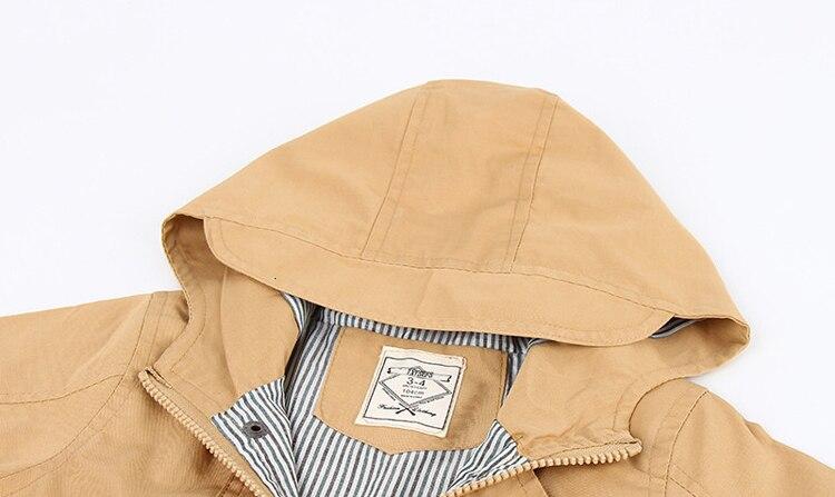 Benemaker Children Winter Outdoor Fleece Jackets For Boys Clothing Hooded Warm Outerwear Windbreaker Baby Kids Thin Coats YJ023 30