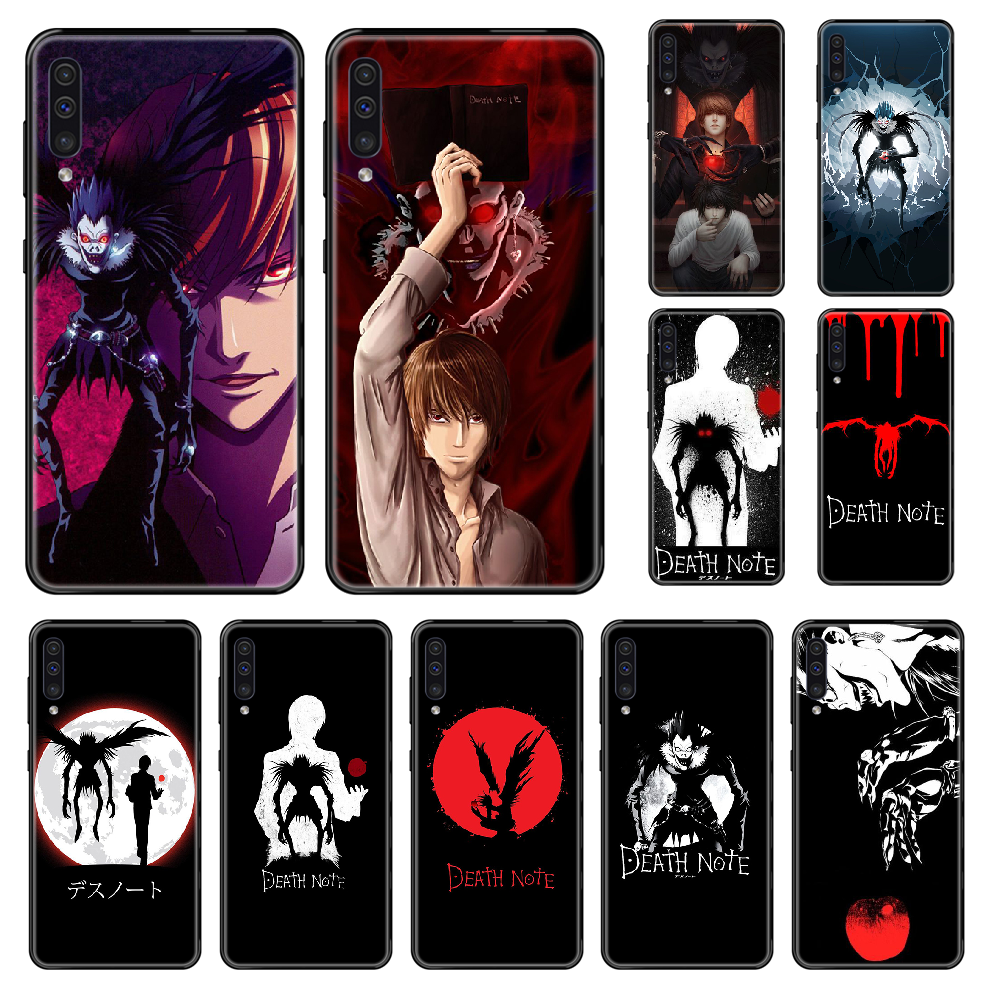 Anime Death Note Phone case For Samsung Galaxy A 3 5 6 7 8 20 40 50 <font><b>70</b></font> 71 E S Plus 2016 2017 <font><b>2018</b></font> black art funda silicone coque image