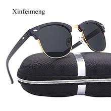 Vintage Semi-Rimless Ladies Sunglasses Women Luxury Brand De