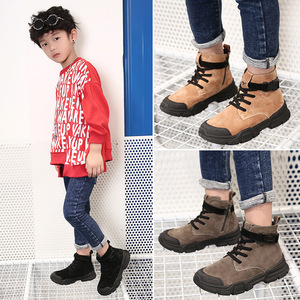 Image 5 - Winter New Kids Ankle Boots Fashion Vintage Boys Martin Boots For Children Waterproof Boots Girls Snow Sneakers Outdoor Non slip