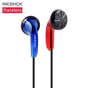 Image 1 - NICEHCK bezśladowy 3.5mm HIFI douszne 15.4mm dynamiczny napęd DJ słuchawki basowe przewodowy zestaw słuchawkowy z mikrofonem HD ME80/EB2/B40 VIDO