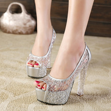 13.5cm Pumps 2019 African Women Shoes And Bag Set With Rhinestones Pumps Italian