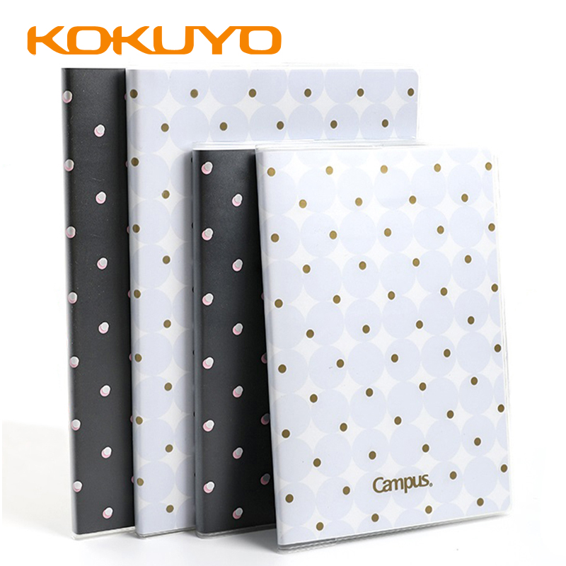 Japan KOKUYO Campus Series Notebook Dots A5 / B5 Thick PVC Material Waterproof Non-fading Notepad WCN-CNB1641
