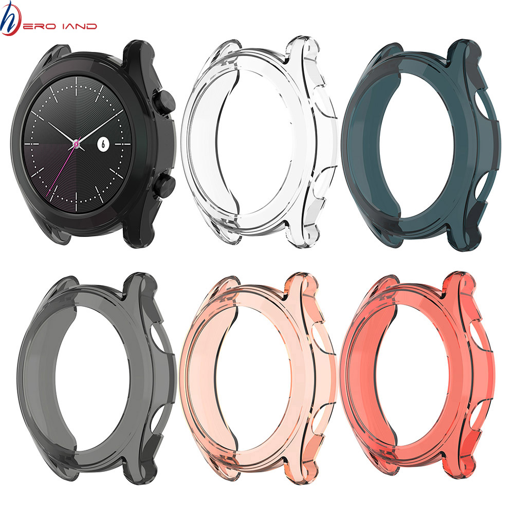 Clear Thin TPU Protector Bumper Watch Frame Case Cover For Huawei Watch GT Elegant 42mm Smart Wristband Protective Accessories