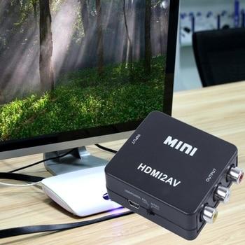 Hdmi to av 3rca MINI HDMI 3RCA CVBS Composite Video AV Converter Adapter TV PS3-S VHS VCR DVD Black hdmi