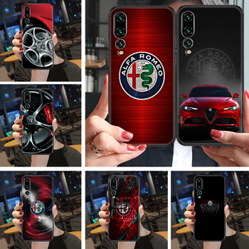 Sport Car Alfa Romeo Phone case For Huawei P Mate Y3 Y9 10 20 30 40 Smart Z Pro Lite 2017 2019 black luxury back 3D hoesjes image