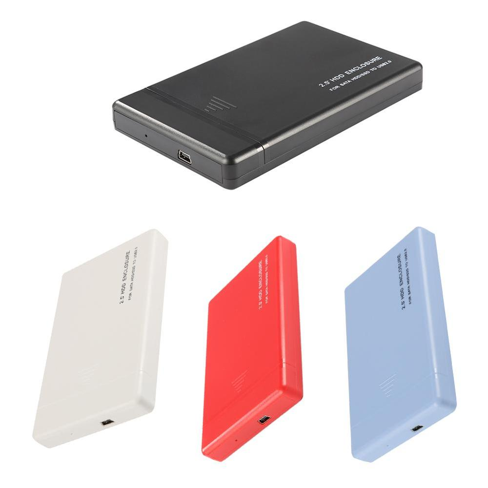 2.5 Inch USB 2.0 SATA Hard Disk Drive Box Computer External HDD Enclosure Case Tools Free Drive Support 3TB For Laptop/Notebook