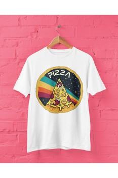 PLAYBACKMODA DESIGN SPACE NASA-PIZZA koszulka z nadrukiem dla tanie i dobre opinie SHORT TR (pochodzenie)