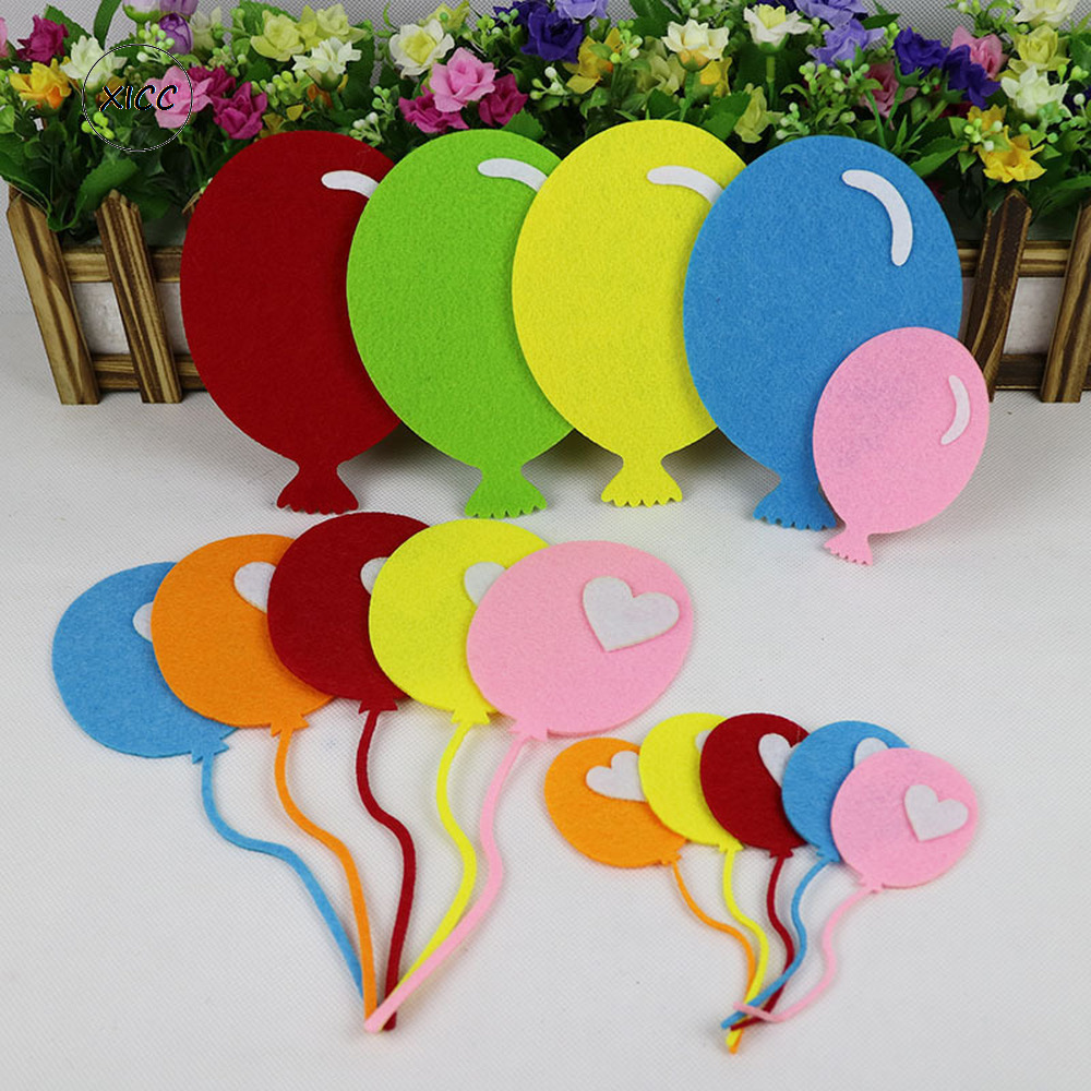 XICC Kindergarten Wall Paste Balloon Non Woven Felt Fabric School Kids DIY Crafts Color Blackboard Newspaper Layout Decoration