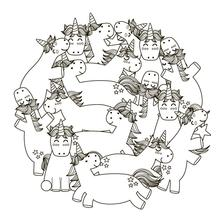 AZSG Funny Unicorn Clear Stamps For DIY Scrapbooking/Card Making/Album Decorative Silicone Stamp Crafts