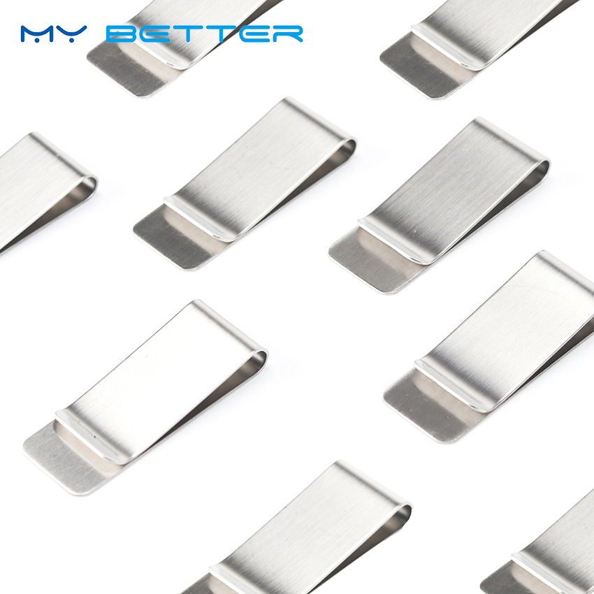 High Quality Stainless Steel Metal Money Clip Fashion Simple Silver Dollar Cash Clamp Holder Wallet For Men Women 1PC